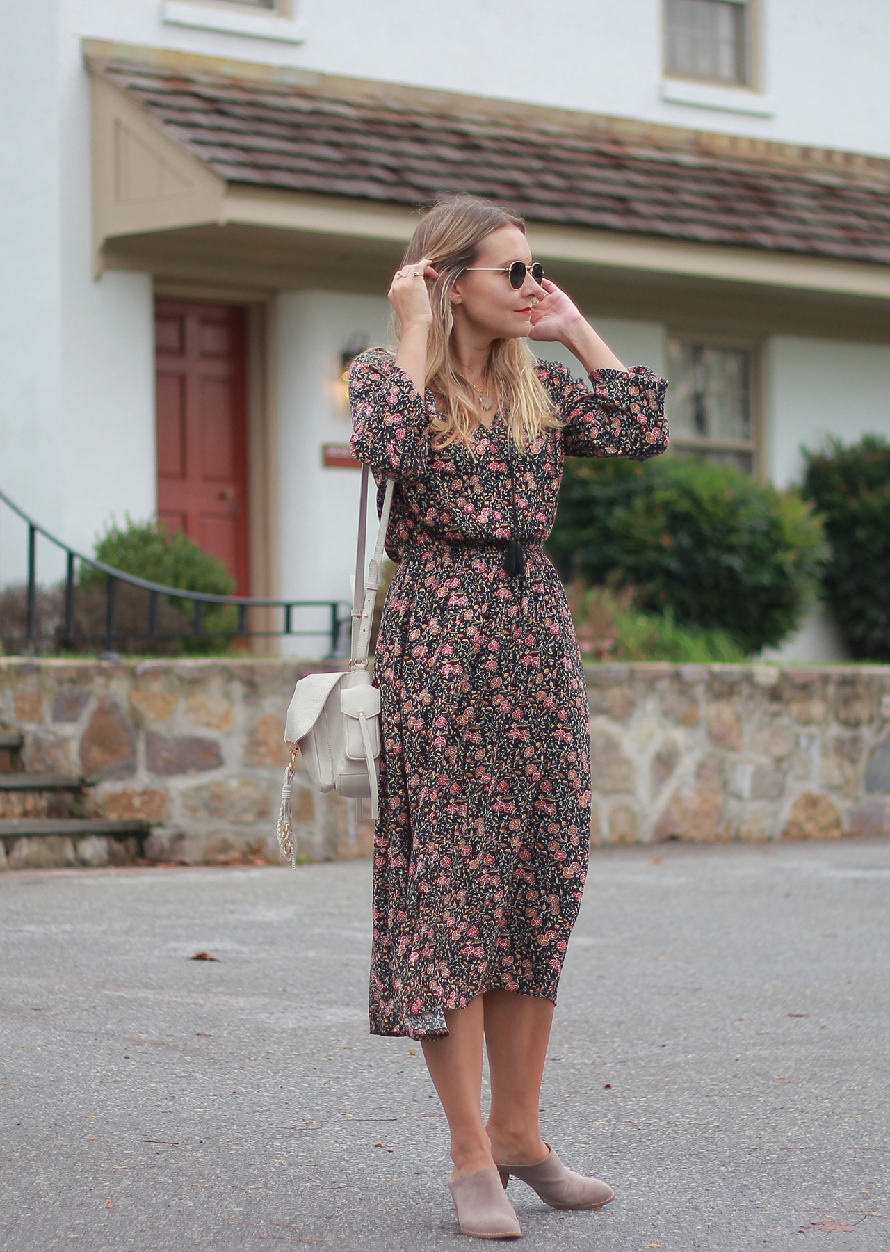 The Steele Maiden: Fall Floral Maxi with Old Navy