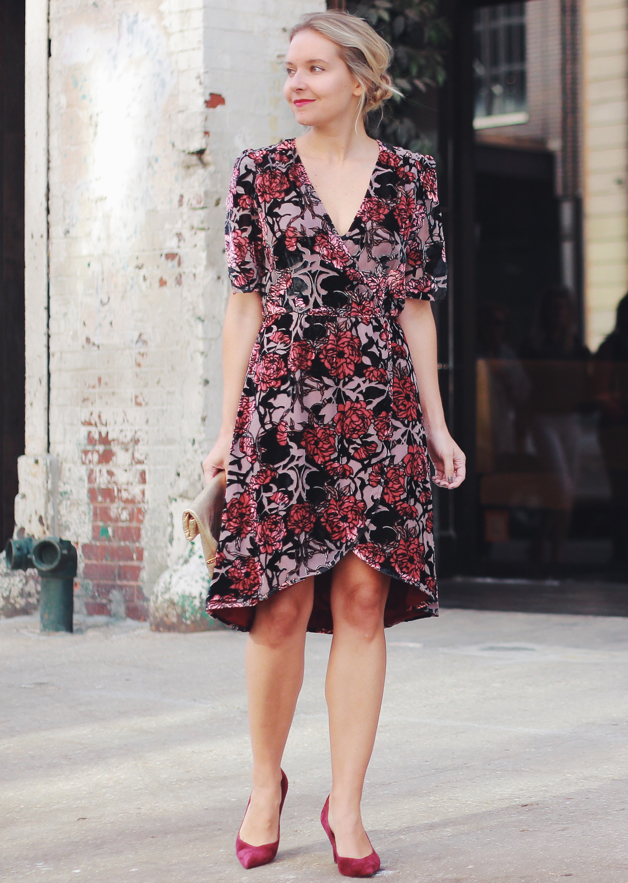 The Steele Maiden: Fall Special Occasion - Velvet Floral Dress