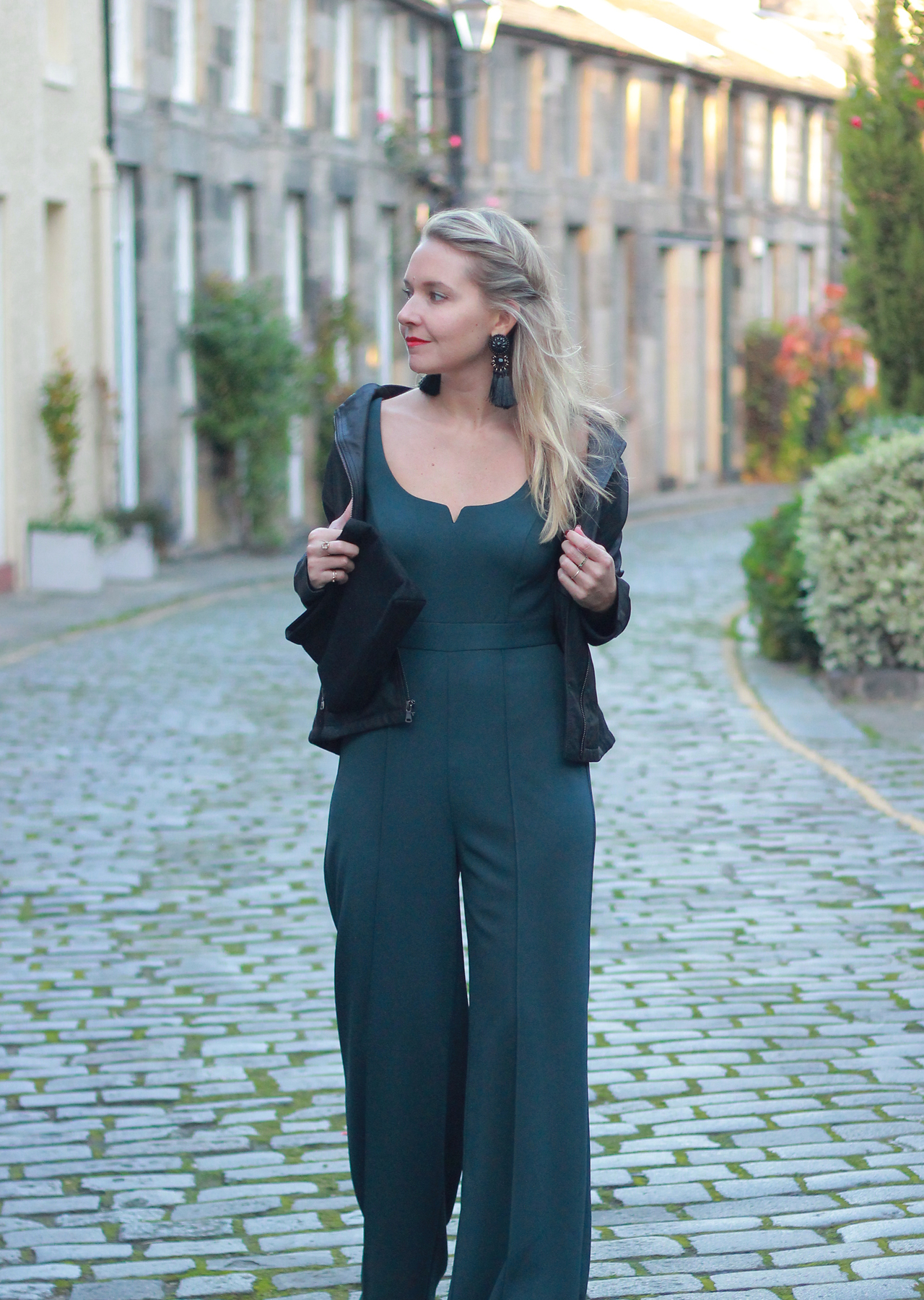 The Steele Maiden: Emerald Green Jumpsuit - Holiday Party Style