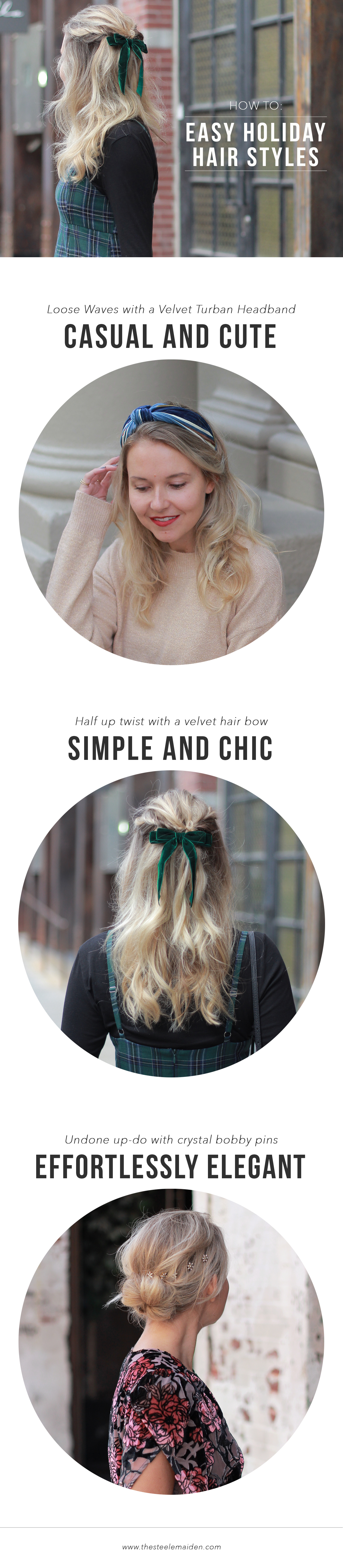The Steele Maiden: How to: Easy Holiday Hair Style with Hair Accessories