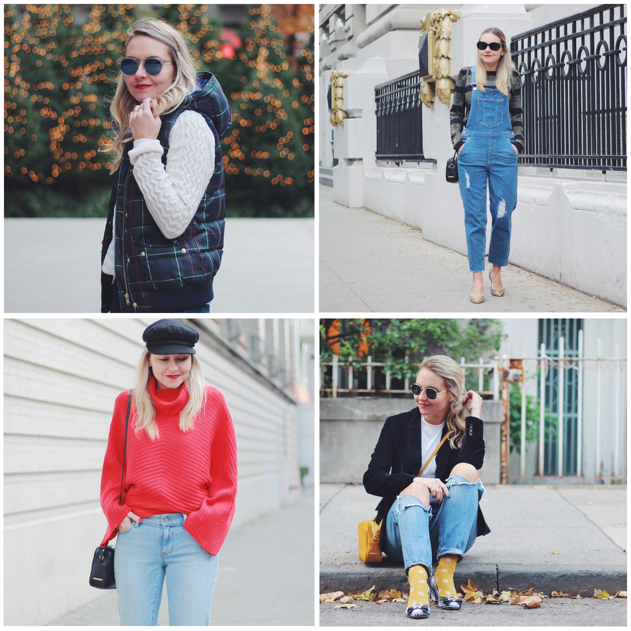 The Steele Maiden: Casual Holiday Outfit Ideas - denim, sweaters, blazers and vests