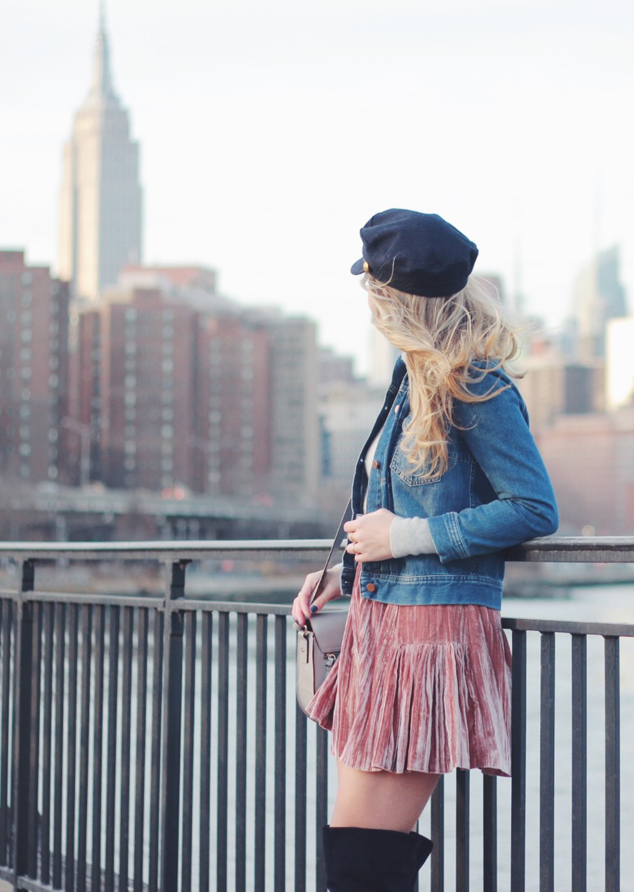 The Steele Maiden: Casual Valentine's Day Outfit Idea - Pink Velvet Skirt