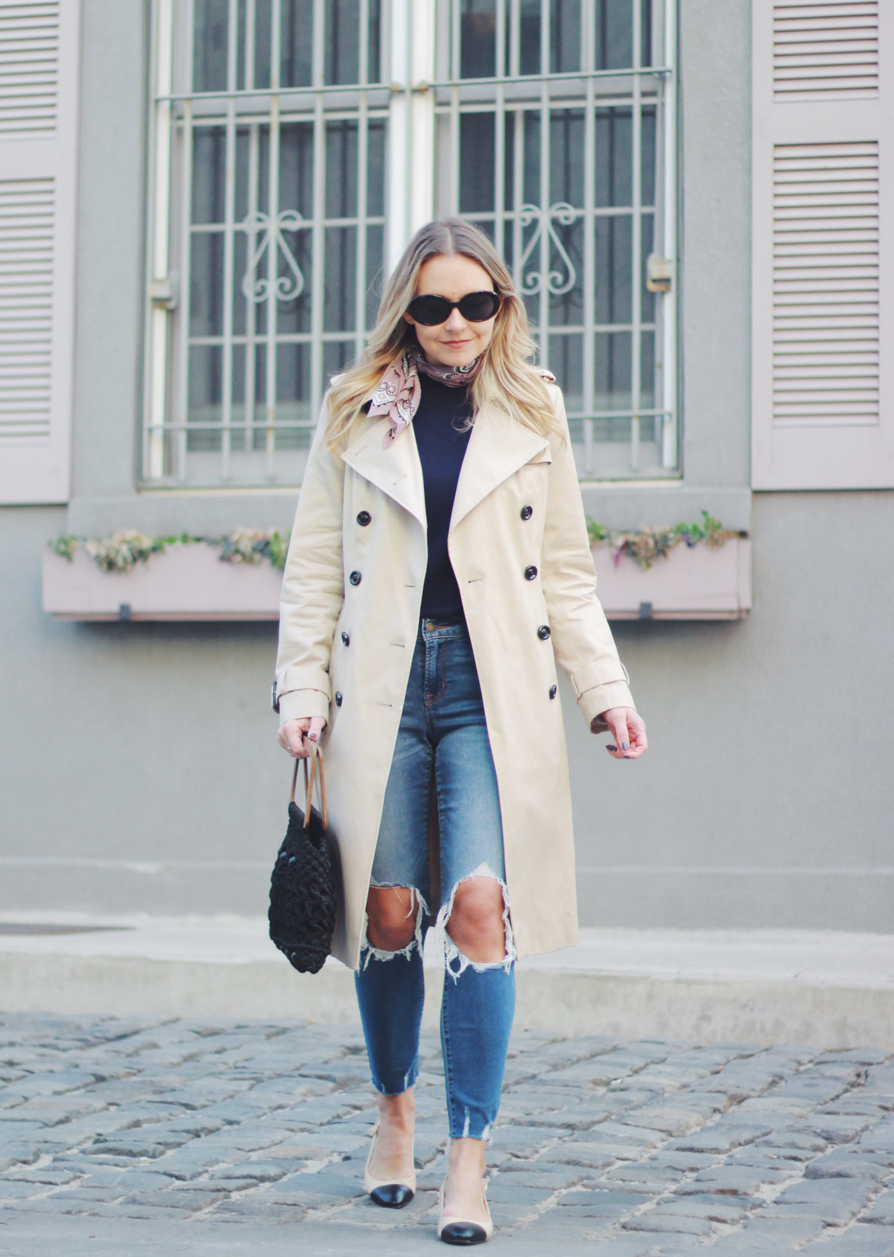 The Steele Maiden: Closet Classics - Trench Coat and Distressed Denim