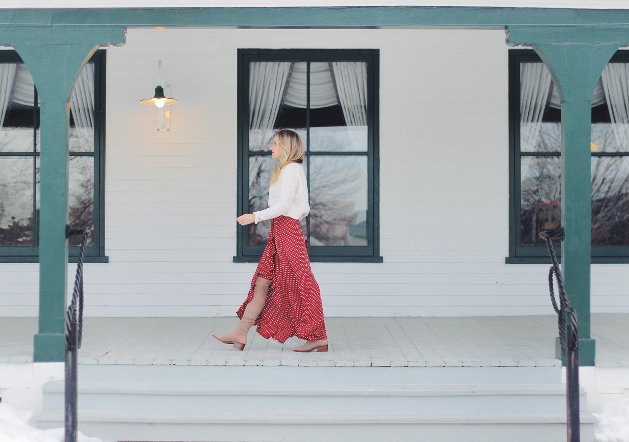 The Steele Maiden: Historic Sheridan Inn Wyoming, Anthropologie Red Ruffle Maxi Skirt