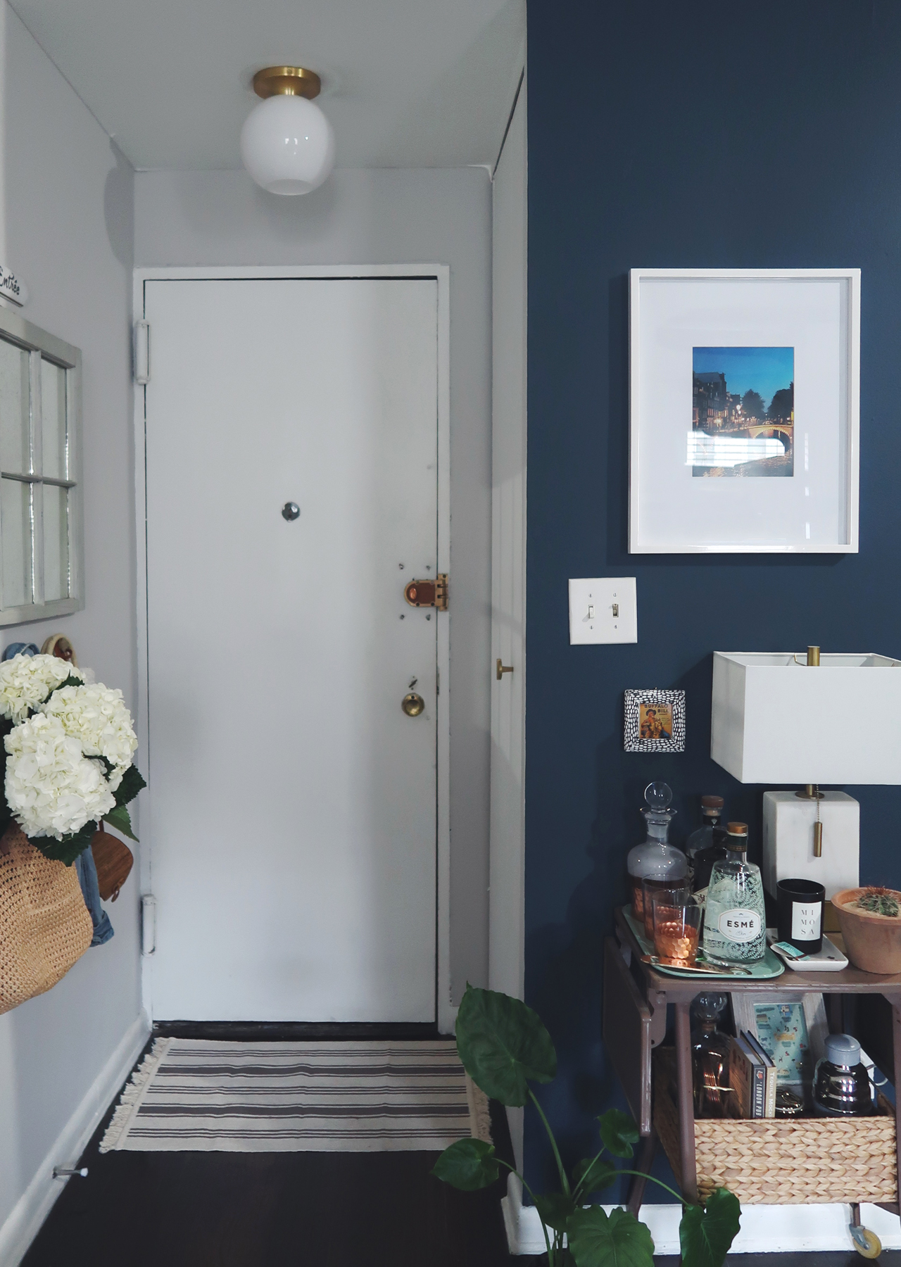 The Steele Maiden: Before and After - Apartment Entryway Makeover