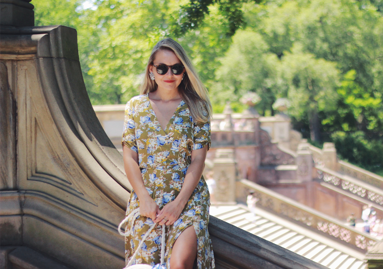 The Steele Maiden: Central Park in Summer - Floral Midi Dress