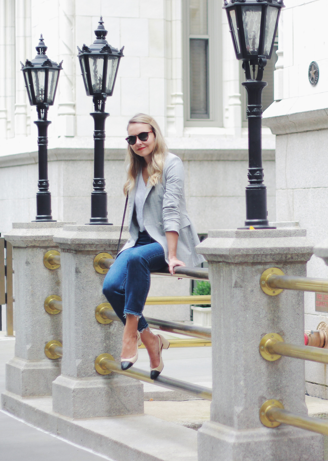 The Steele Maiden: Blazers and Denim - Casual Friday Outfit
