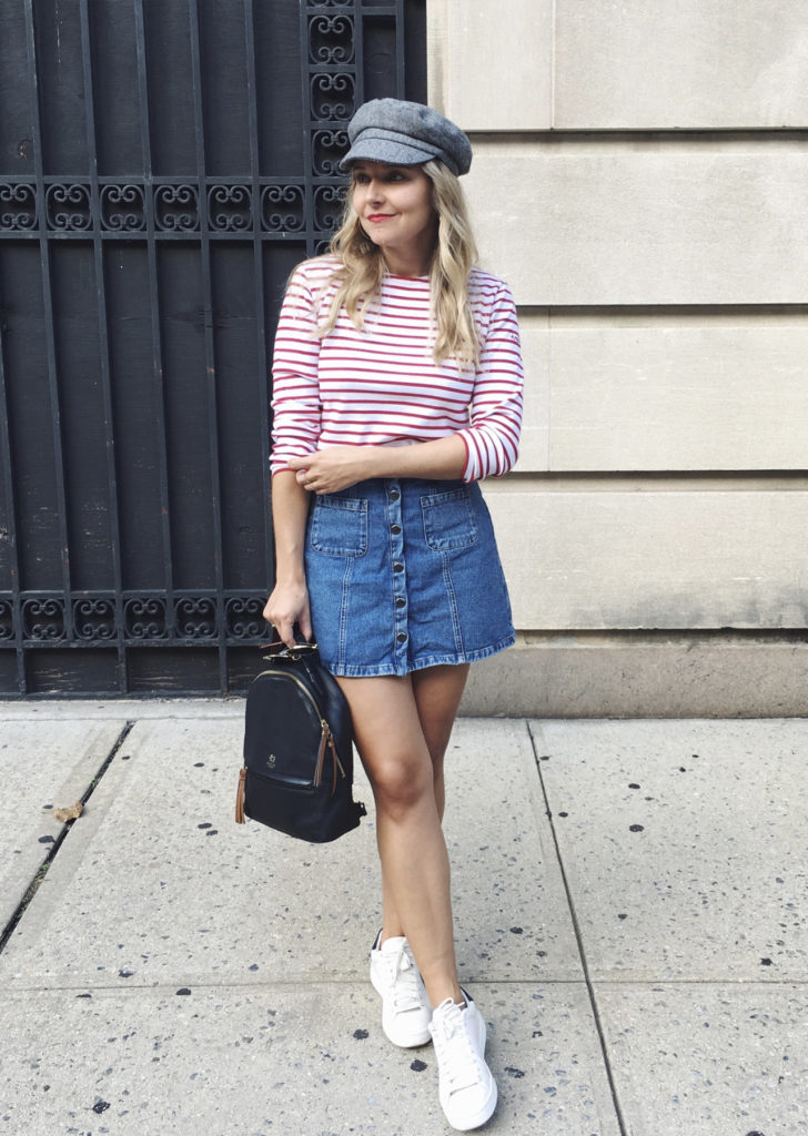 The Steele Maiden: Stripes and Sneakers Casual Style