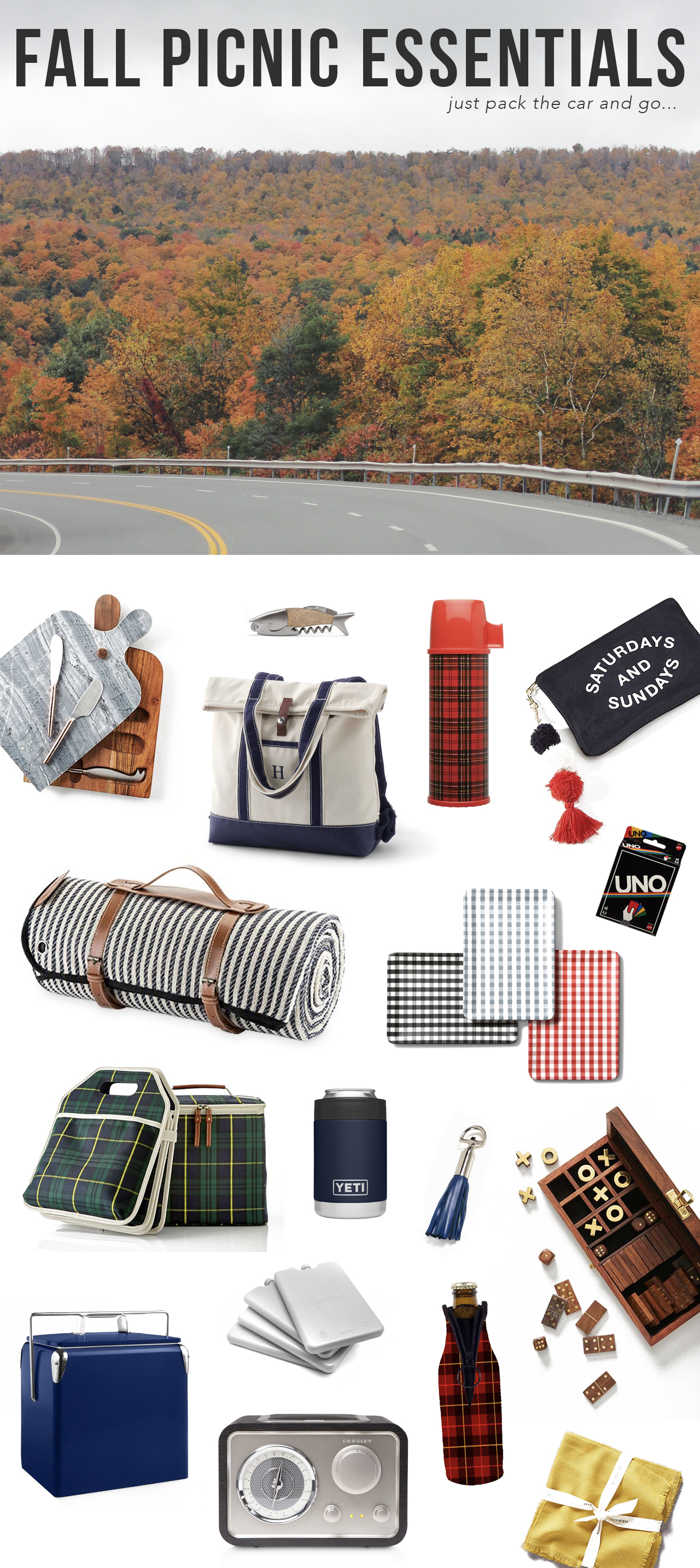 The Steele Maiden: Fall Picnic and Road Trip Essentials