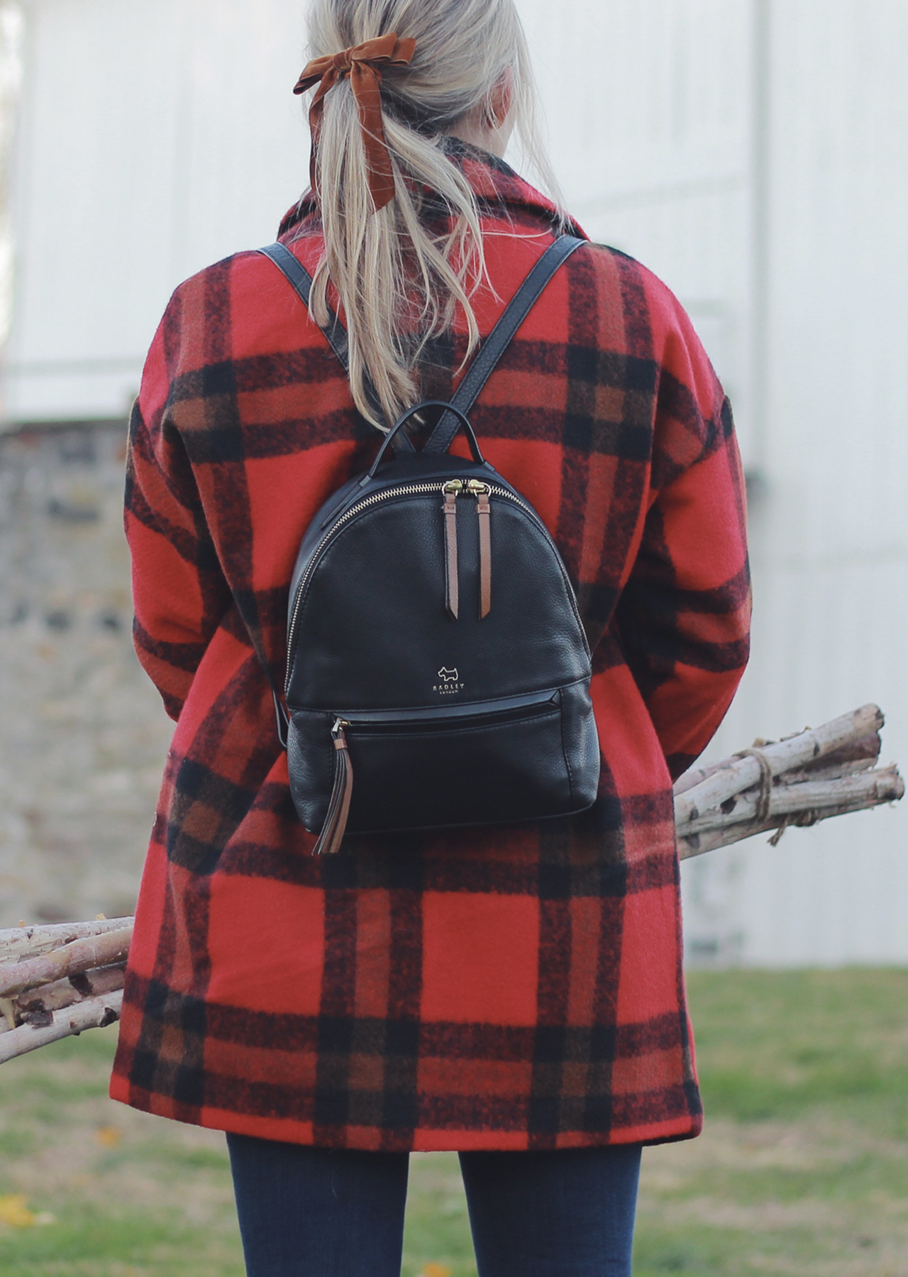 The Steele Maiden: Winter Style - Red Plaid Coat and Hiking Boots